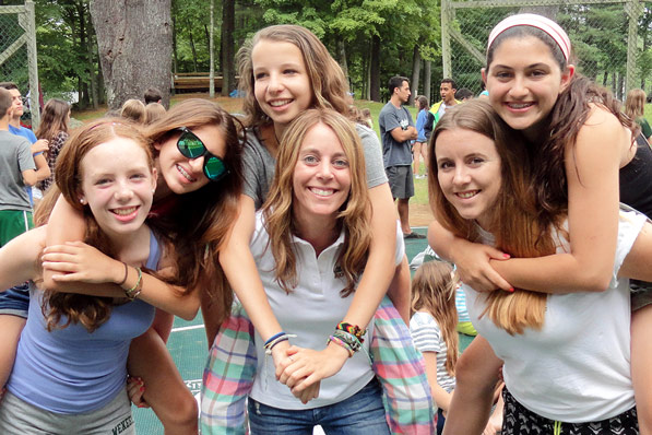 Girls enjoying a summer at camp.